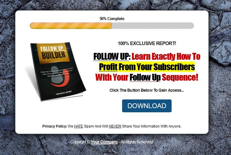 Guru Style PLR Squeeze Page