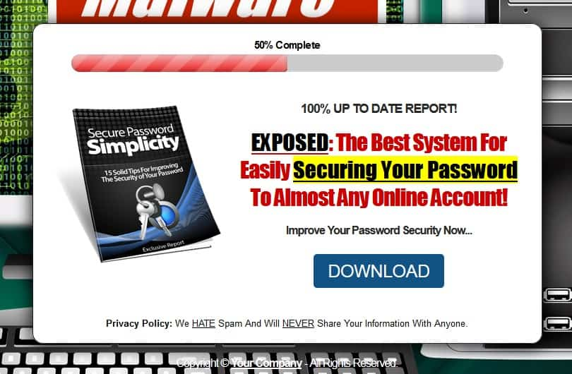 Secure Password Simplicity PLR Lead Magnet