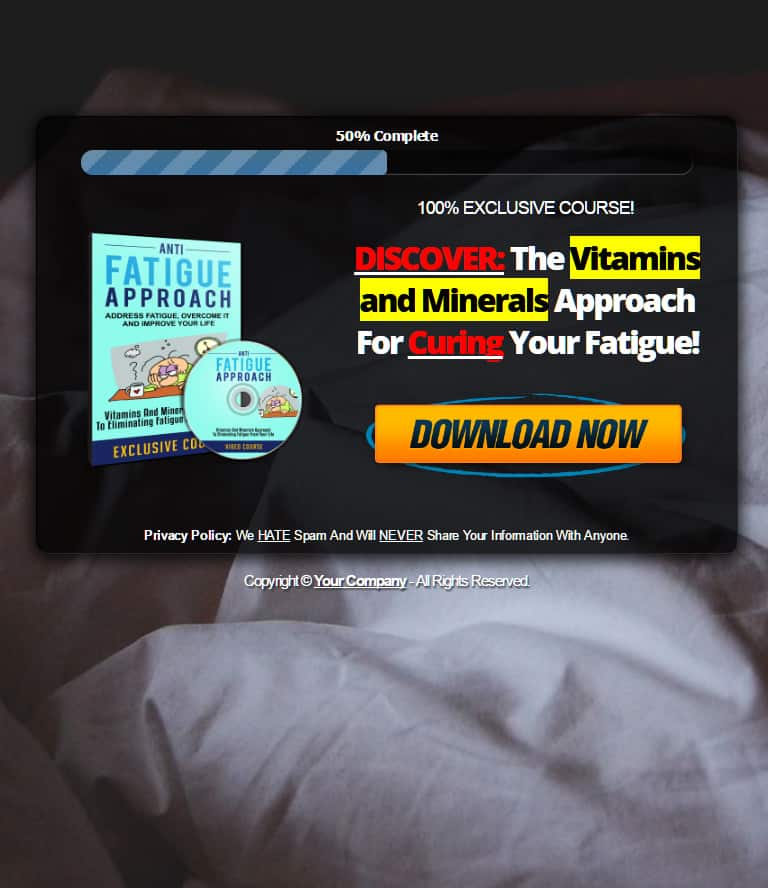 chronic fatigue plr squeeze page
