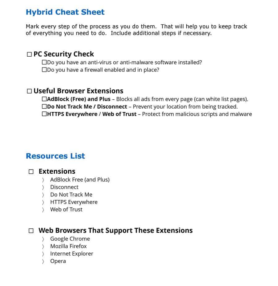Web Browser Safe House PLR Report