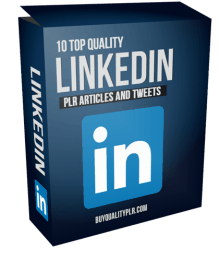 10 Top Quality LinkedIn PLR Articles and Tweets