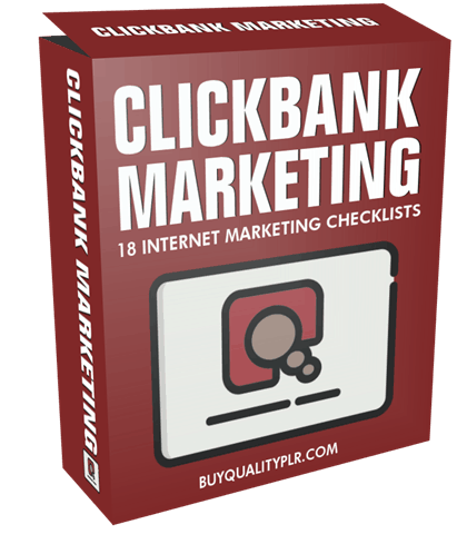 Clickbank Marketing Internet Marketing Checklist