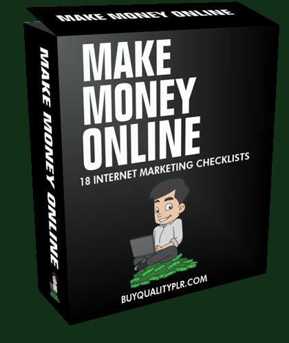Make Money Online Internet Marketing Checklist