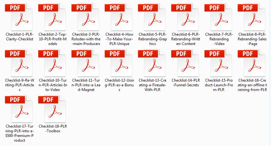 PLR Kickstart Checklist