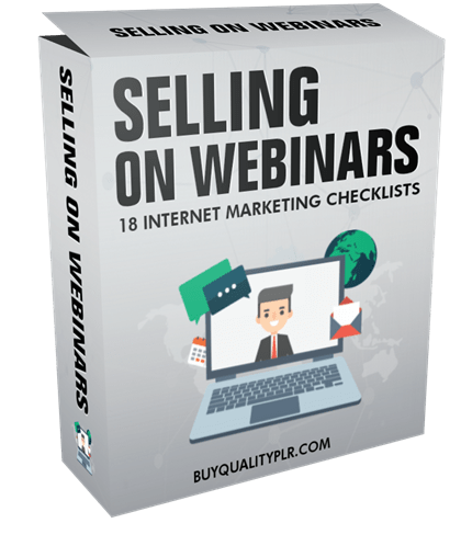 Selling on Webinars Internet Marketing Checklist