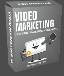 Video Marketing Internet Marketing Checklist