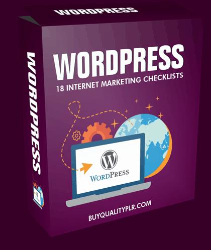 Internet Marketing Checklist - 18 WordPress Checklists