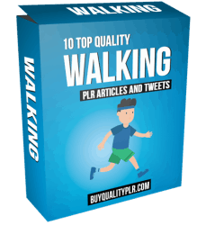 10 Top Quality Walking PLR Articles and Tweets