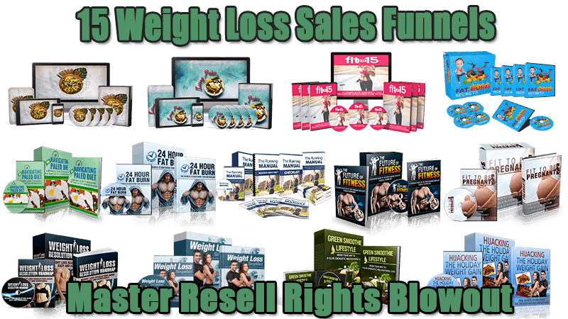 15 Weight Loss Sales Funnels Master Resell Rights Blowout