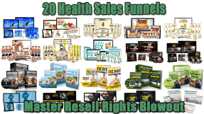 20 Health Sales Funnels Master Resell Rights Blowout