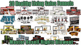 20 Healthy Living Sales Funnels Master Resell Rights Blowout