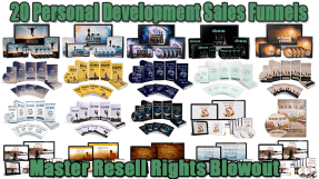 20 Personal Development Sales Funnels Master Resell Rights Blowout