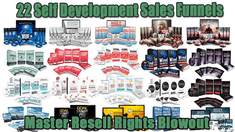22 Self Development Sales Funnels Master Resell Rights Blowout