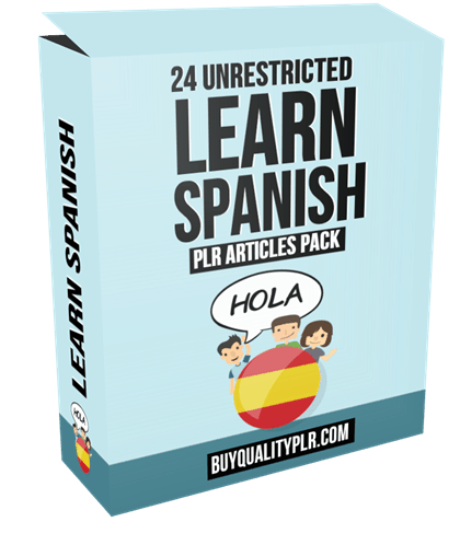 24 Unrestricted Learn Spanish PLR Articles Pack