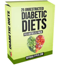 25 Unrestricted Diabetic Diets PLR Articles Pack