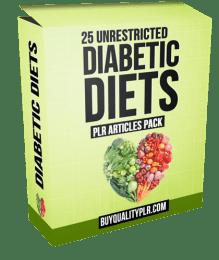 25 Unrestricted Diabetic Diets PLR Articles Pack