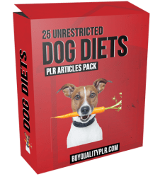 25 Unrestricted Dog Diets PLR Articles Pack