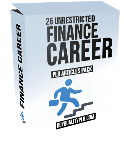 25 Unrestricted Finance Career PLR Articles Pack