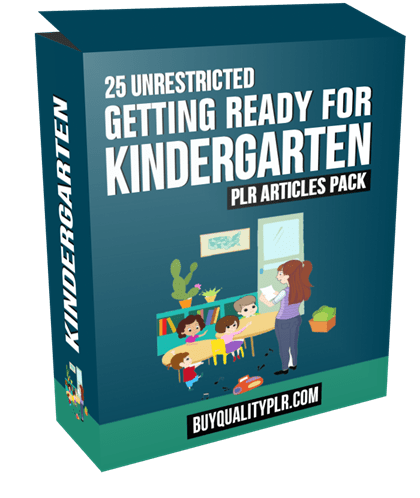 25 Unrestricted Getting Ready for Kindergarten PLR Articles Pack