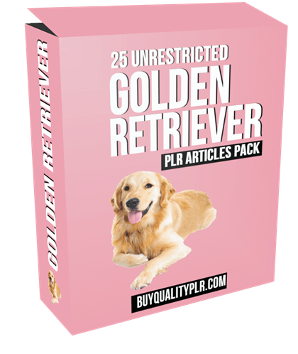 25 Unrestricted Golden Retriever PLR Articles Pack
