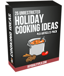 25 Unrestricted Holiday Cooking Ideas PLR Articles Pack