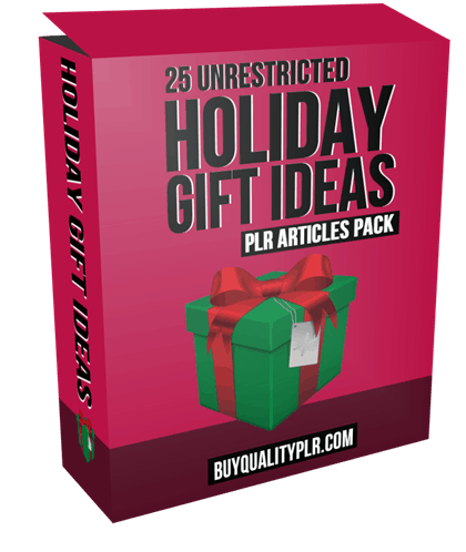 25 Unrestricted Holiday Gift Ideas PLR Articles Pack