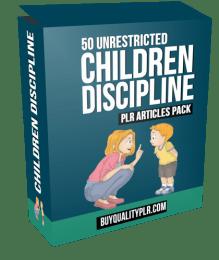 50 Unrestricted Children Discipline PLR Articles Pack