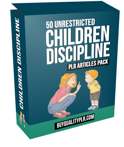50 Unrestricted Children Discipline PLR Articles Pack