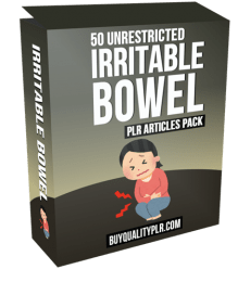 50 Unrestricted Irritable Bowel PLR Articles Pack