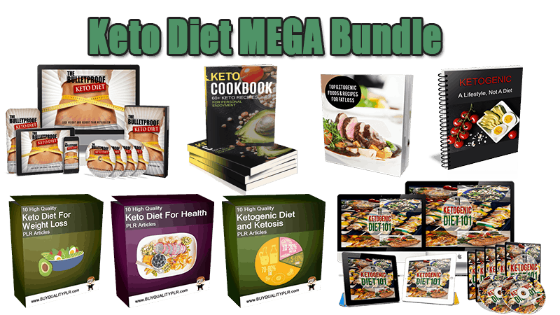 Keto Diet MEGA Bundle plr and resell rights products