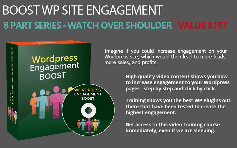 WordPress Engagement PLR Video Product