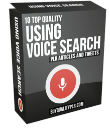 10 Top Quality Using Voice Search PLR Articles and Tweets