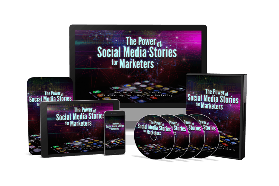 The Power Of Social Media Stories For Marketers Sales Funnel with Master Resell Rights