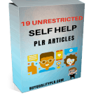 19 Unrestricted Self Help PLR Articles