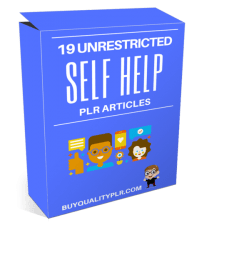 19 Unrestricted Self Help PLR Articles Pack