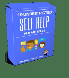 19 Unrestricted Self Help PLR Articles Pack