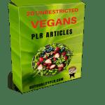 20 Unrestricted Vegans PLR Articles