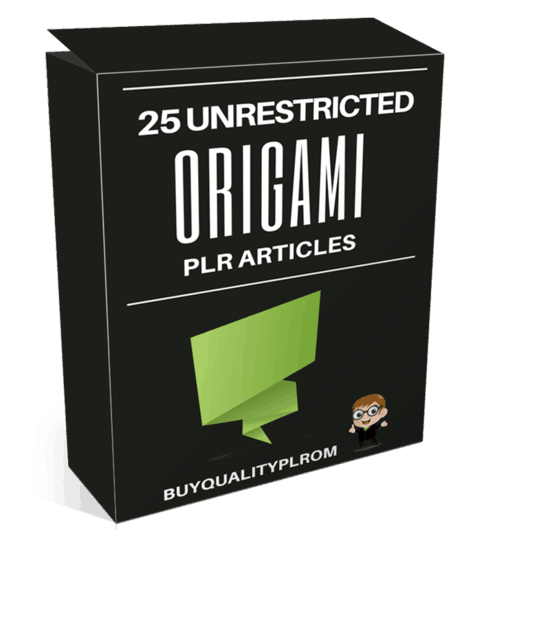 25 Unrestricted Origami PLR Articles