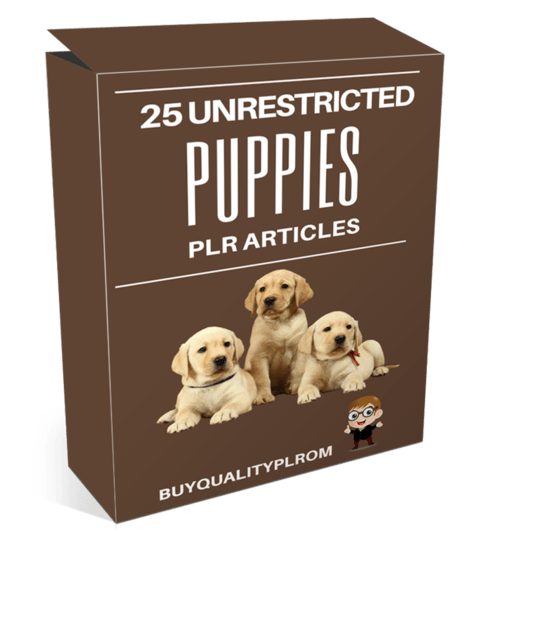 25 Unrestricted Puppies PLR Articles