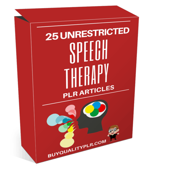 25 Unrestricted Speech Therapy PLR Articles