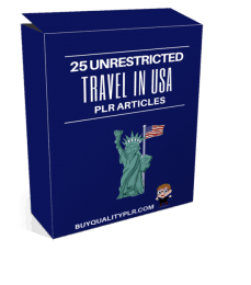 30 Unrestricted Travel in USA PLR Articles Pack