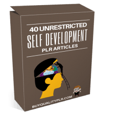 40 Unrestricted Self Development PLR Articles Pack