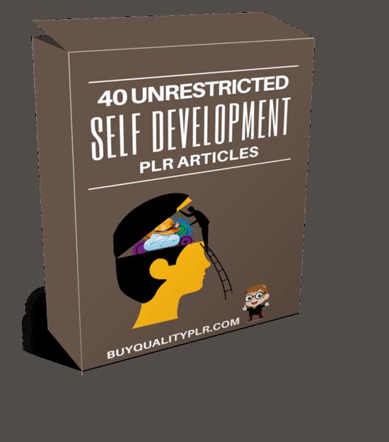 40 Unrestricted Self Development PLR Articles Pack