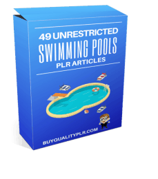 49 Unrestricted Swimming Pools PLR Articles Pack