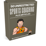 50 Unrestricted Sports Coaching PLR Articles Pack