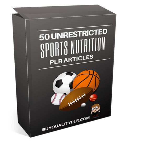 50 Unrestricted Sports Nutrition PLR Articles Pack