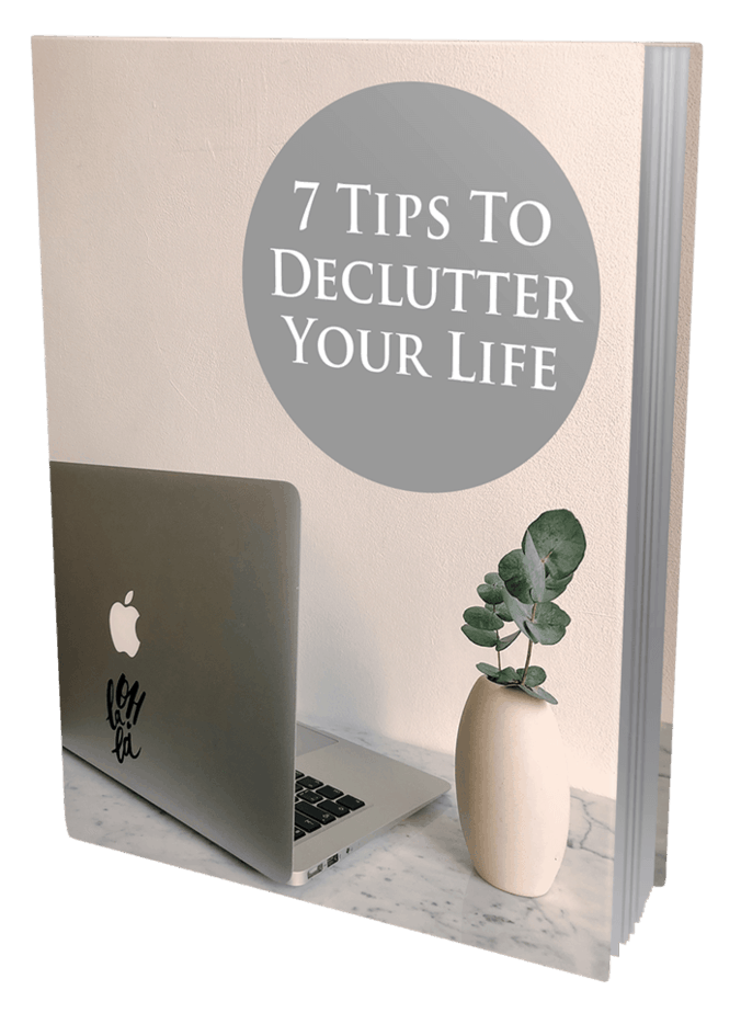 7 Tips To Declutter Your Life MRR Ebook and Squeeze Page
