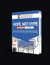 Hope Not Hype PLR Ebook - Rebrandable Course