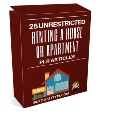 Renting A House Or Apartment PLR Articles