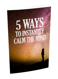 5 Ways To Instantly Calm The Mind MRR Ebook and Squeeze Page